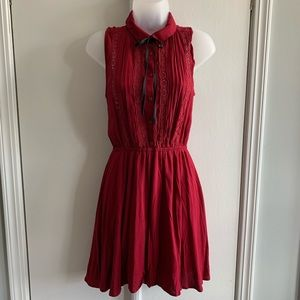 H&M Red Western Lace Dress